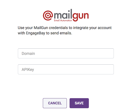 configure Mailgun account in engagebay