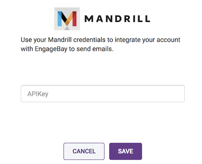 configure Mandrill account in engagebay
